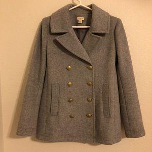 J Crew Grey Wool Coat